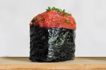 Sushi tartar de atún