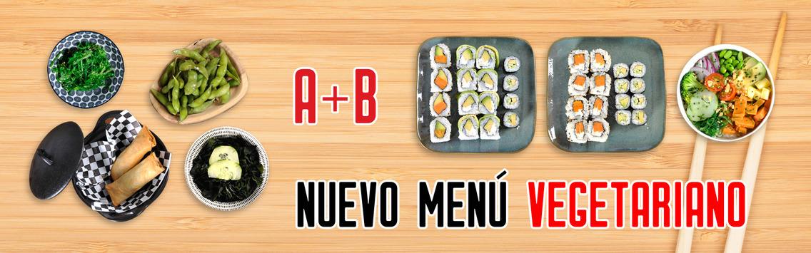 banner menu vegetariano go sushing