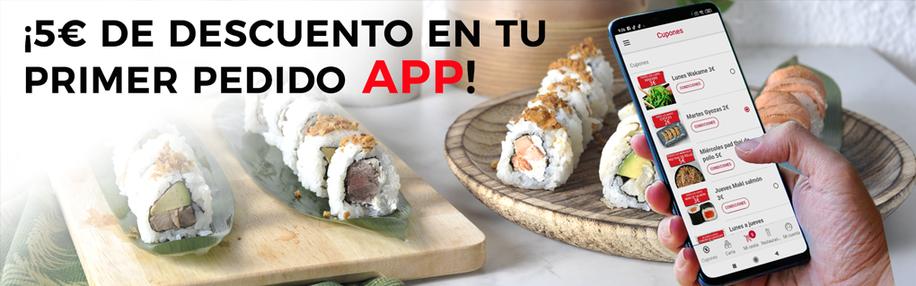 5€ de Descuento Primer Pedido App