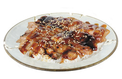 Pollo Teriyaki con arroz (media ración)