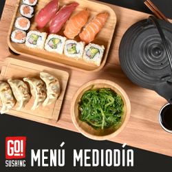 Menú Mediodía Sushi  GO! Sushing