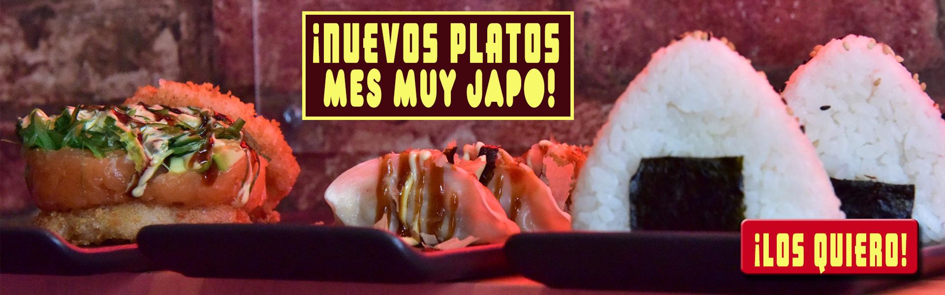 NUEVOS PLATOS MUY JAPO