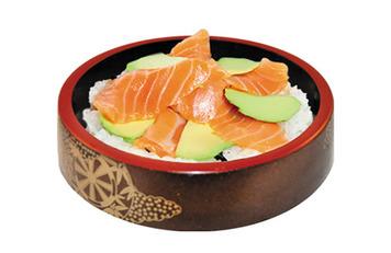 Chirashi de salmón y aguacate