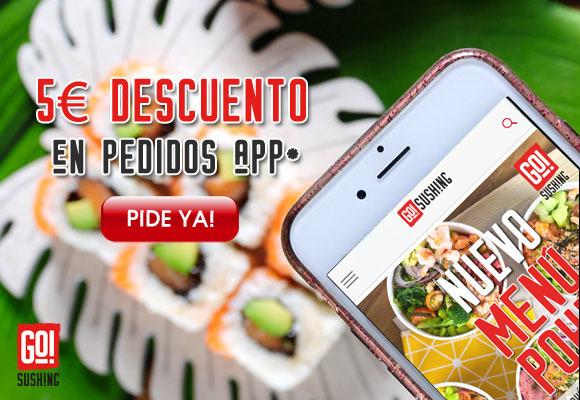 Promoción app sushi a domicilio
