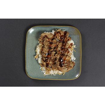 Pollo Teriyaki con arroz (media ración)