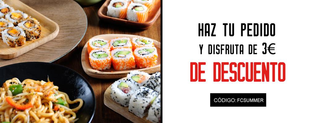 Promocion Sushi a Domicilio Go Sushing