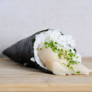 Temaki pez mantequilla con trufa