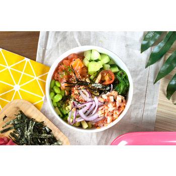 Salmón tampico Poké Bowl